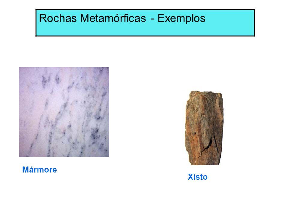 Mármore Xisto Rochas Metamórficas - Exemplos