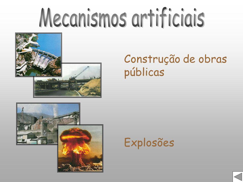 Construção de obras públicas Explosões