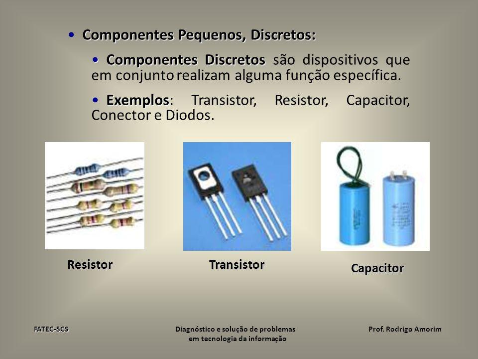 Componentes Pequenos, Discretos: Componentes Discretos Componentes Discretos são dispositivos que em conjunto realizam alguma função específica. Exemp