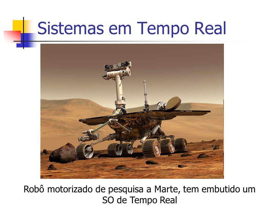 Sistemas em Tempo Real Robô motorizado de pesquisa a Marte, tem embutido um SO de Tempo Real
