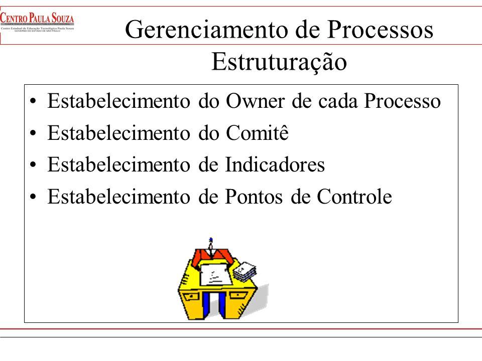 Gerenciamento de Processos Definição Conjunto de técnicas para garantir que os processos empresariais sejam monitorados e aperfeiçoados constantemente