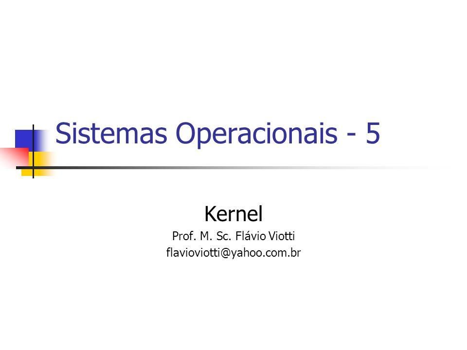 Sistemas Operacionais - 5 Kernel Prof. M. Sc. Flávio Viotti flavioviotti@yahoo.com.br