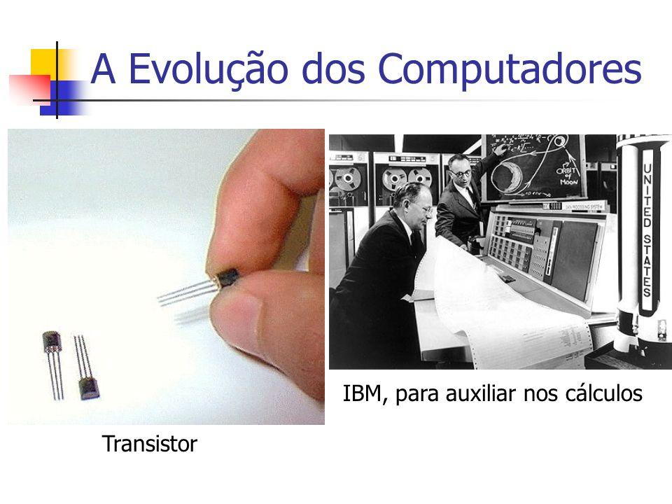 A Evolução dos Computadores 3ª Geração: (1965 - 1975) Surgimento dos Circuitos Integrados – CI Diminuição do tamanho Maior capacidade de processamento Início da utilização de computadores pessoais Linguagens de alto nível (Cobol, Fortran,...)