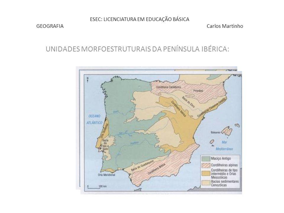 ESEC: LICENCIATURA EM EDUCAÇÃO BÁSICA GEOGRAFIA Carlos Martinho EVOLUÇÃO GEOLÓGICA E GEOMORFOlÓGICA : Dinâmica interna Forças endógenas Dinâmica externa Forças exógenas