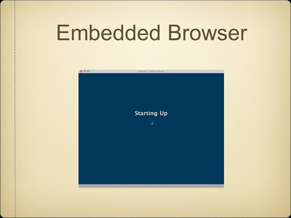 Embedded Browser