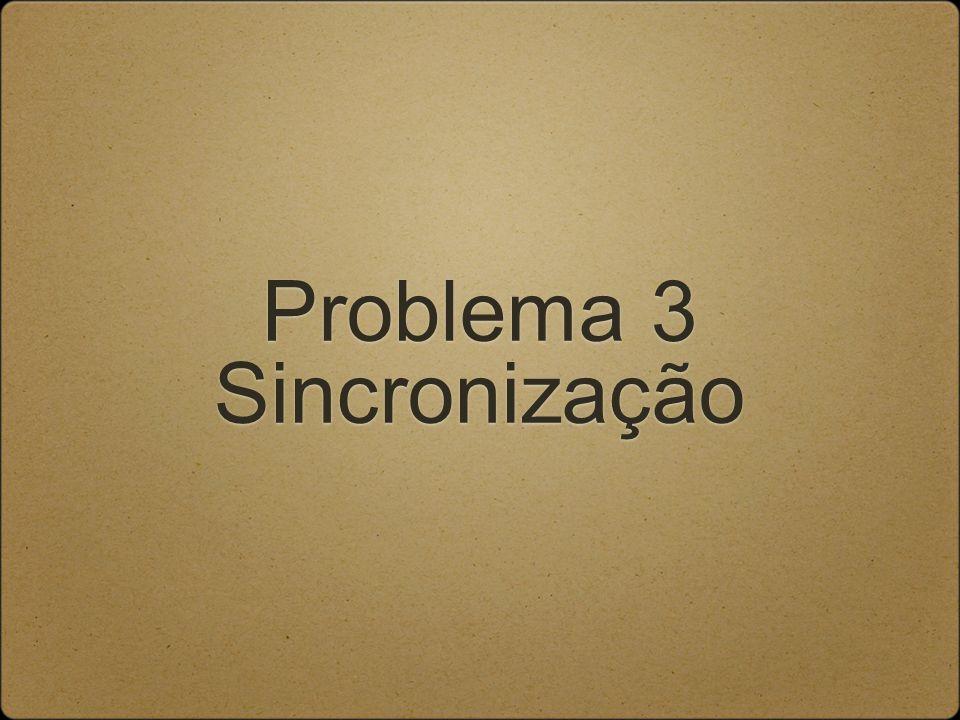 Problema 3 Sincronização