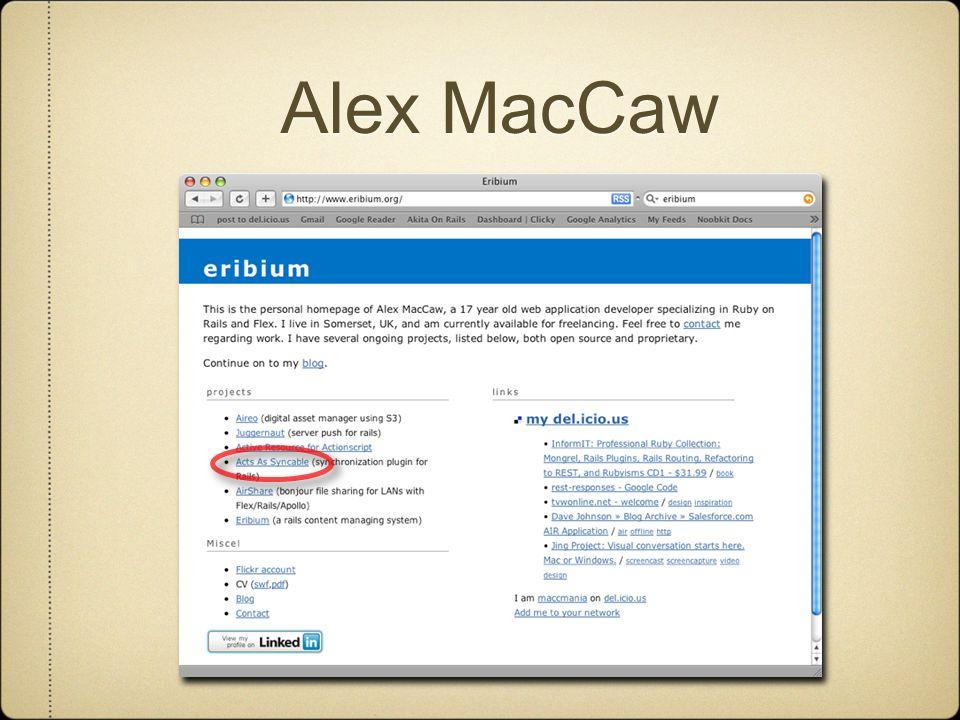 Alex MacCaw