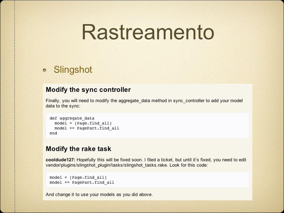 Rastreamento Slingshot