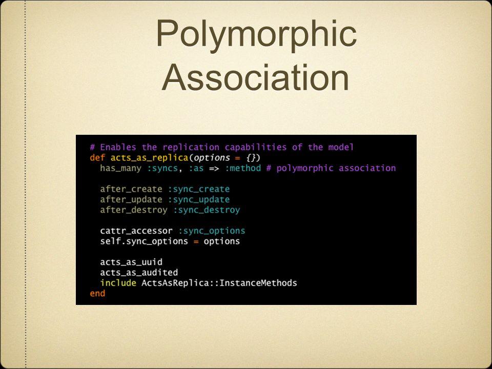 Polymorphic Association