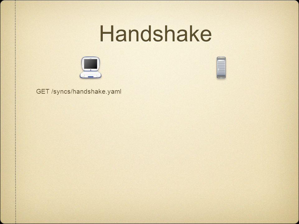 Handshake GET /syncs/handshake.yaml