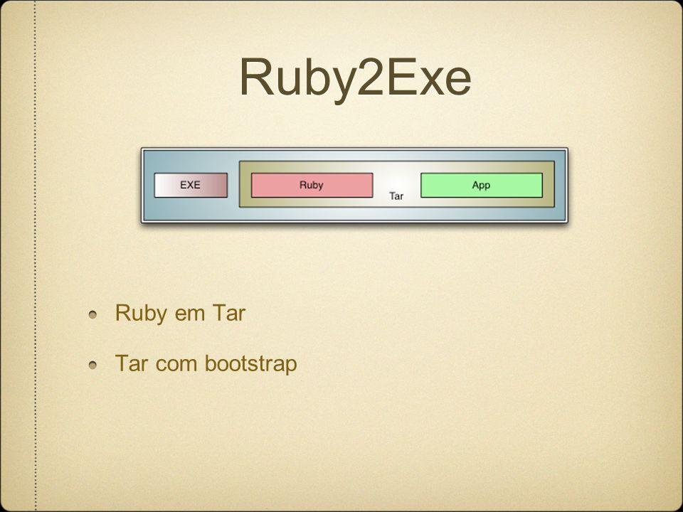 Ruby2Exe Ruby em Tar Tar com bootstrap