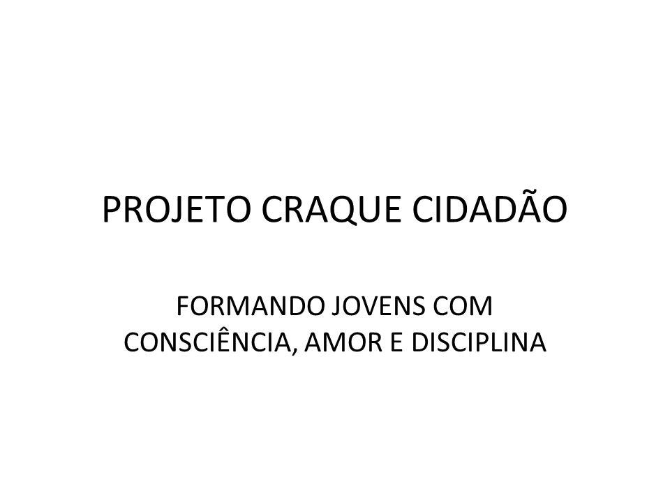 PROJETO CRAQUE CIDADÃO FORMANDO JOVENS COM CONSCIÊNCIA, AMOR E DISCIPLINA