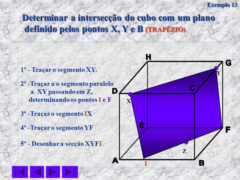 Determinar a intersecção do cubo com um plano definido pelos pontos X, Y e B (TRAPÉZIO) definido pelos pontos X, Y e B (TRAPÉZIO) Determinar a interse