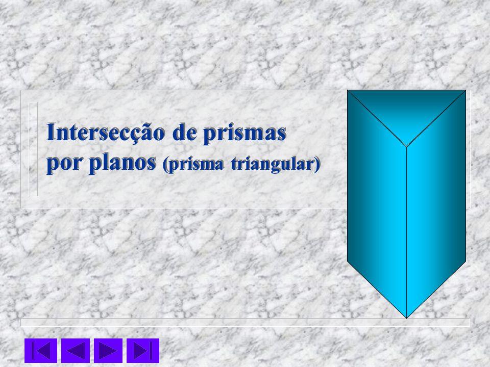 Intersecção de prismas por planos (prisma triangular) Intersecção de prismas por planos (prisma triangular)