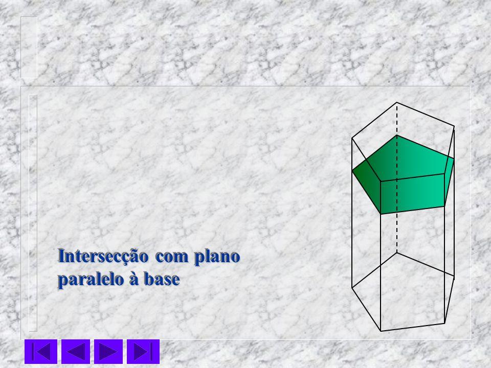 Intersecção com plano paralelo à base Intersecção com plano paralelo à base