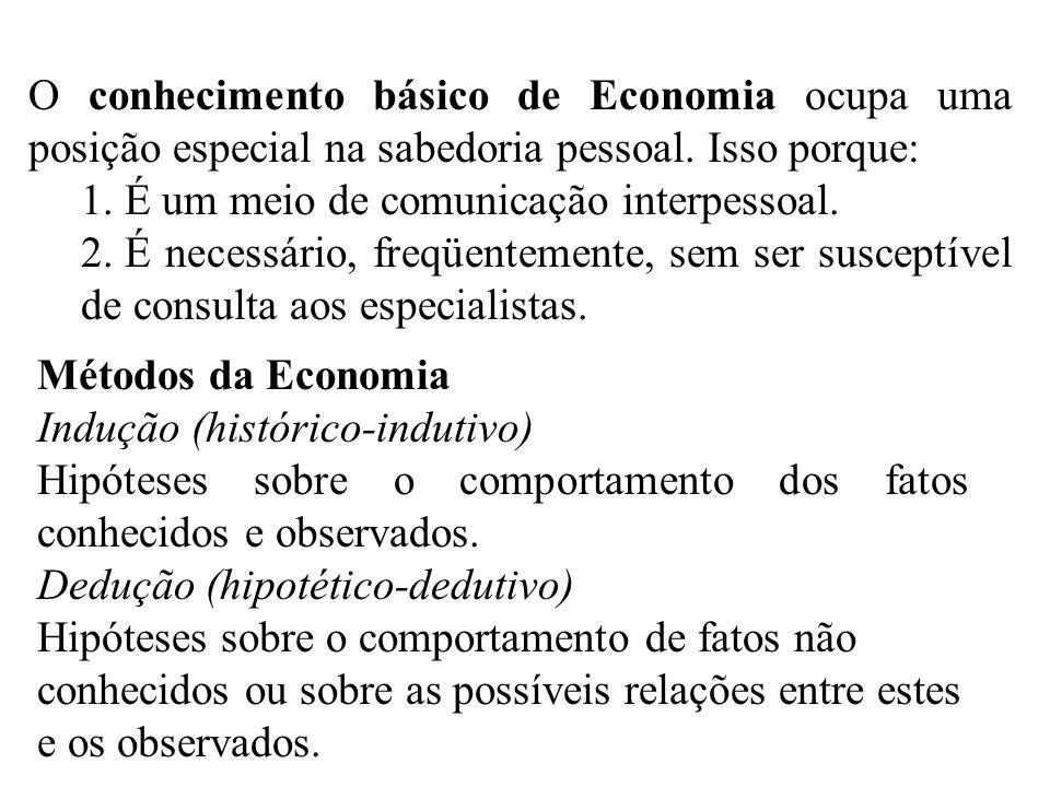 O conhecimento básico de Economia ocupa uma posição especial na sabedoria pessoal.