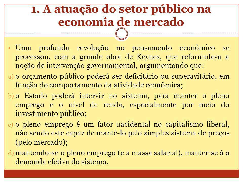 Uma profunda revolução no pensamento econômico se processou, com a grande obra de Keynes, que reformulava a noção de intervenção governamental, argume