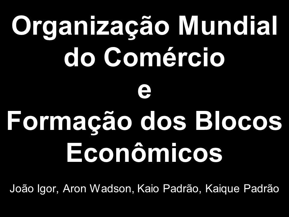 Organização Mundial do Comércio e Formação dos Blocos Econômicos João Igor, Aron Wadson, Kaio Padrão, Kaique Padrão