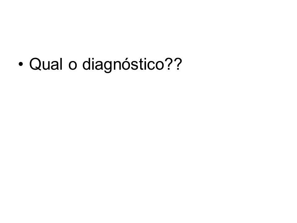 Qual o diagnóstico??