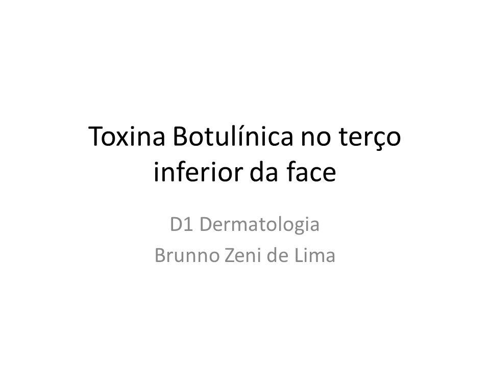 Toxina Botulínica no terço inferior da face D1 Dermatologia Brunno Zeni de Lima
