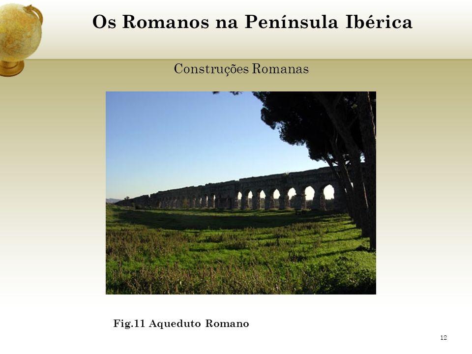 12 Os Romanos na Península Ibérica Construções Romanas Fig.11 Aqueduto Romano