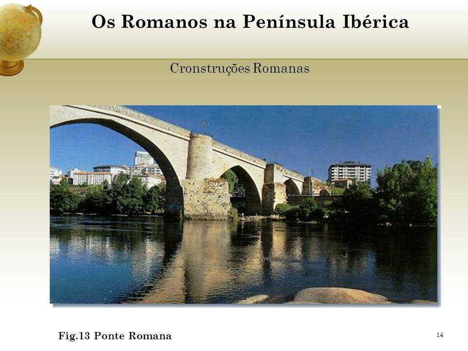 14 Os Romanos na Península Ibérica Cronstruções Romanas Fig.13 Ponte Romana