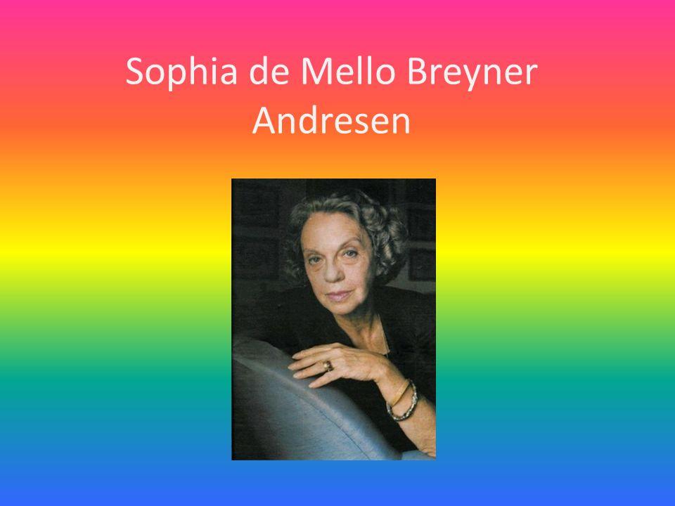 Sophia de Mello Breyner Andresen nasceu na cidade do Porto, em 6 de novembro de 1919, viveu em Lisboa, onde estudou e tirou o curso de Filologia Clássica na Universidade de Lisboa, mas não chegou a terminar o curso e faleceu em Lisboa no dia 2 de Julho de 2004.