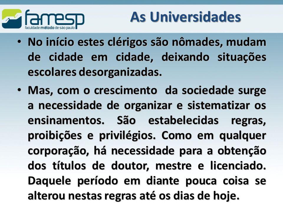 As Universidades do Séc.