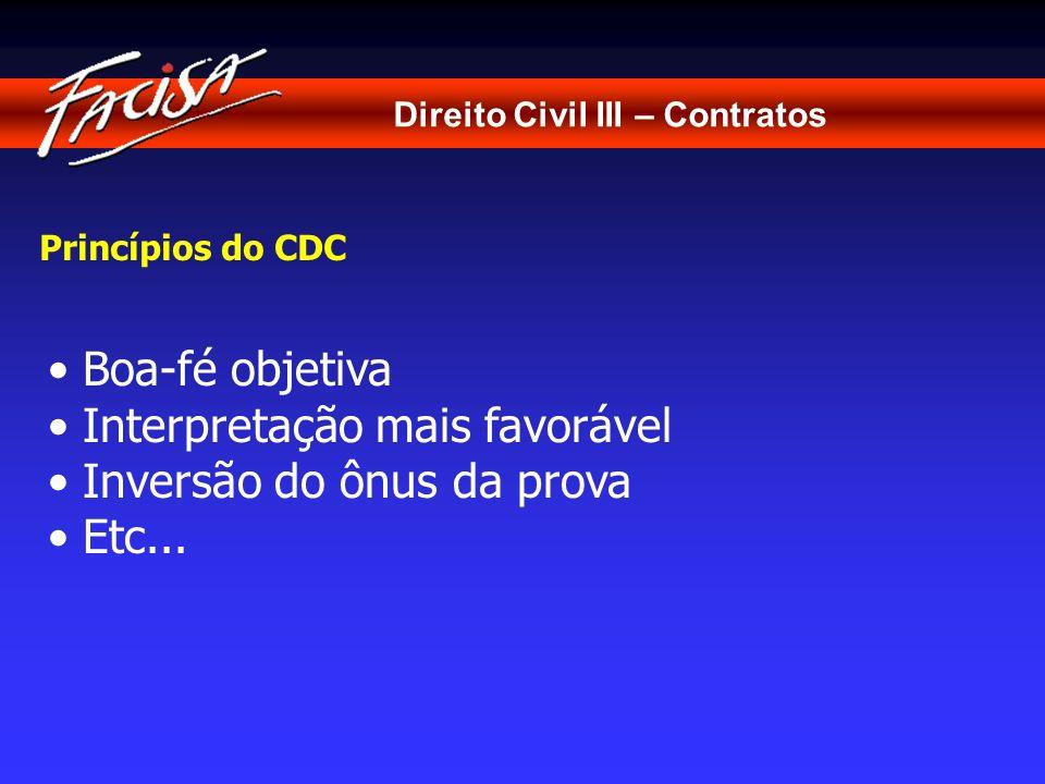 Direito Civil III – Contratos Interpretação dos Contratos de Adesão Art.
