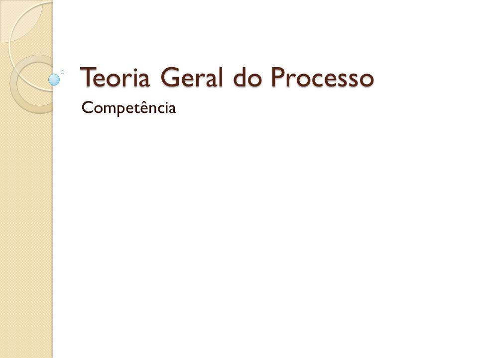 Teoria Geral do Processo Competência
