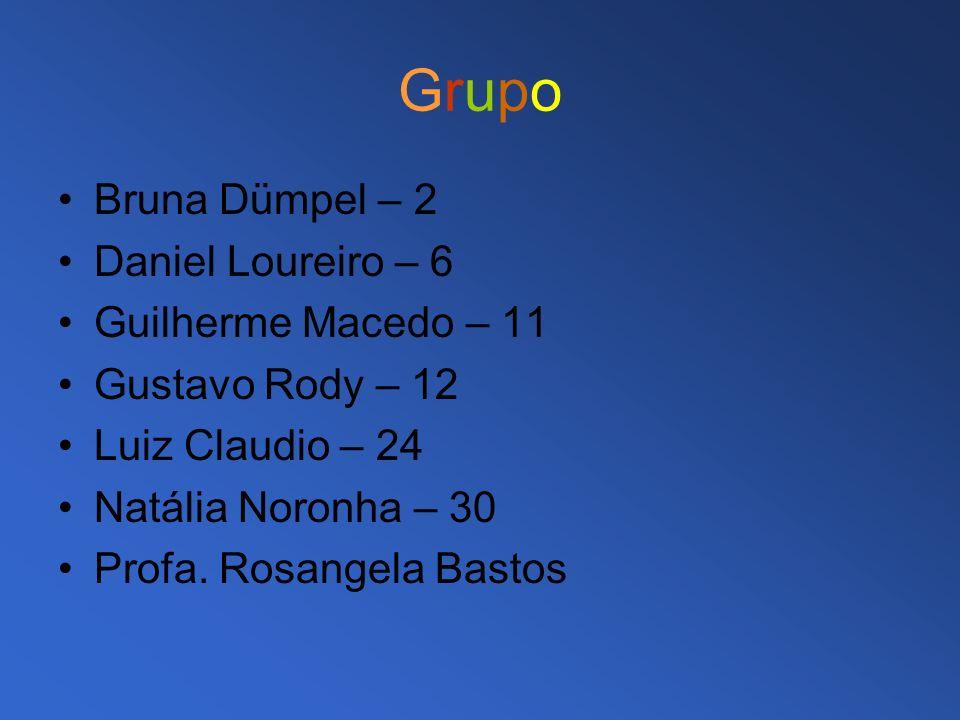 GrupoGrupo Bruna Dümpel – 2 Daniel Loureiro – 6 Guilherme Macedo – 11 Gustavo Rody – 12 Luiz Claudio – 24 Natália Noronha – 30 Profa. Rosangela Bastos