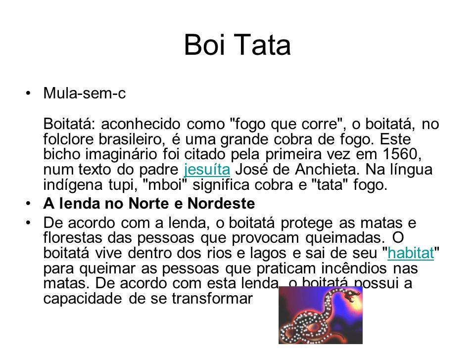 Boi Tata Mula-sem-c Boitatá: aconhecido como