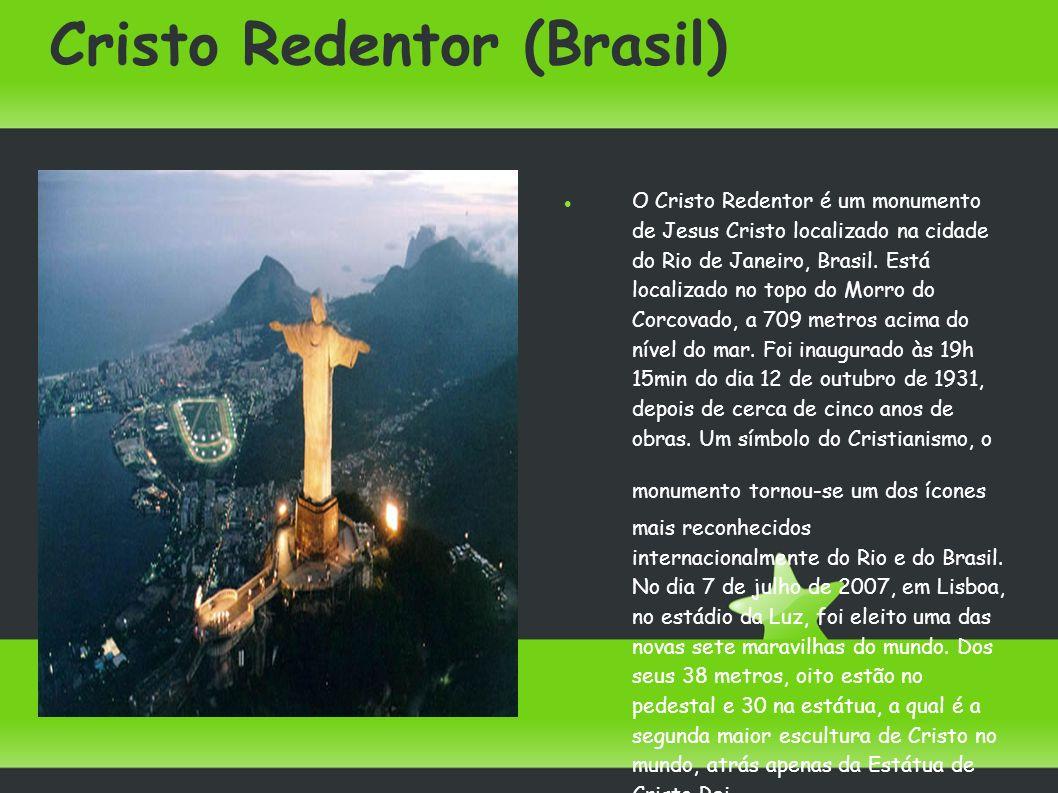 Cristo Redentor (Brasil) O Cristo Redentor é um monumento de Jesus Cristo localizado na cidade do Rio de Janeiro, Brasil. Está localizado no topo do M