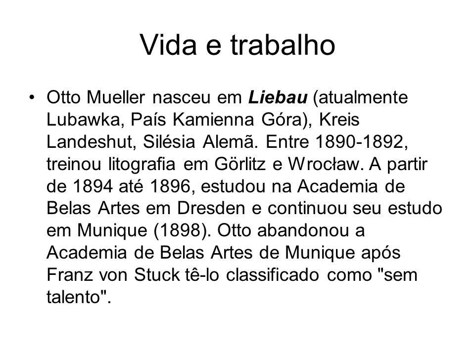 Vida e trabalho Otto Mueller nasceu em Liebau (atualmente Lubawka, País Kamienna Góra), Kreis Landeshut, Silésia Alemã.