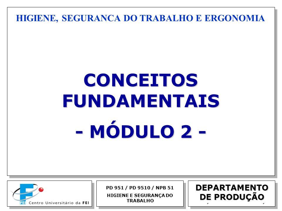 EGM 2005 HIGIENE, SEGURANCA DO TRABALHO E ERGONOMIA PD 951 / PD 9510 / NPB 51 HIGIENE E SEGURANÇA DO TRABALHO CONCEITOS FUNDAMENTAIS - MÓDULO 2 - DEPA