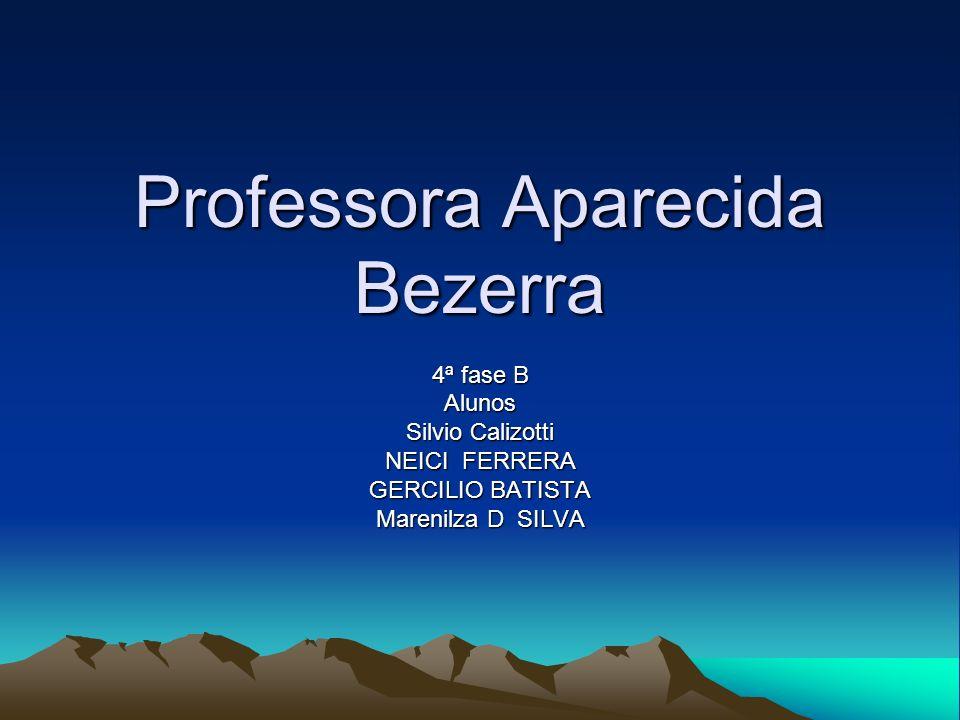 Professora Aparecida Bezerra 4ª fase B Alunos Silvio Calizotti NEICI FERRERA GERCILIO BATISTA Marenilza D SILVA