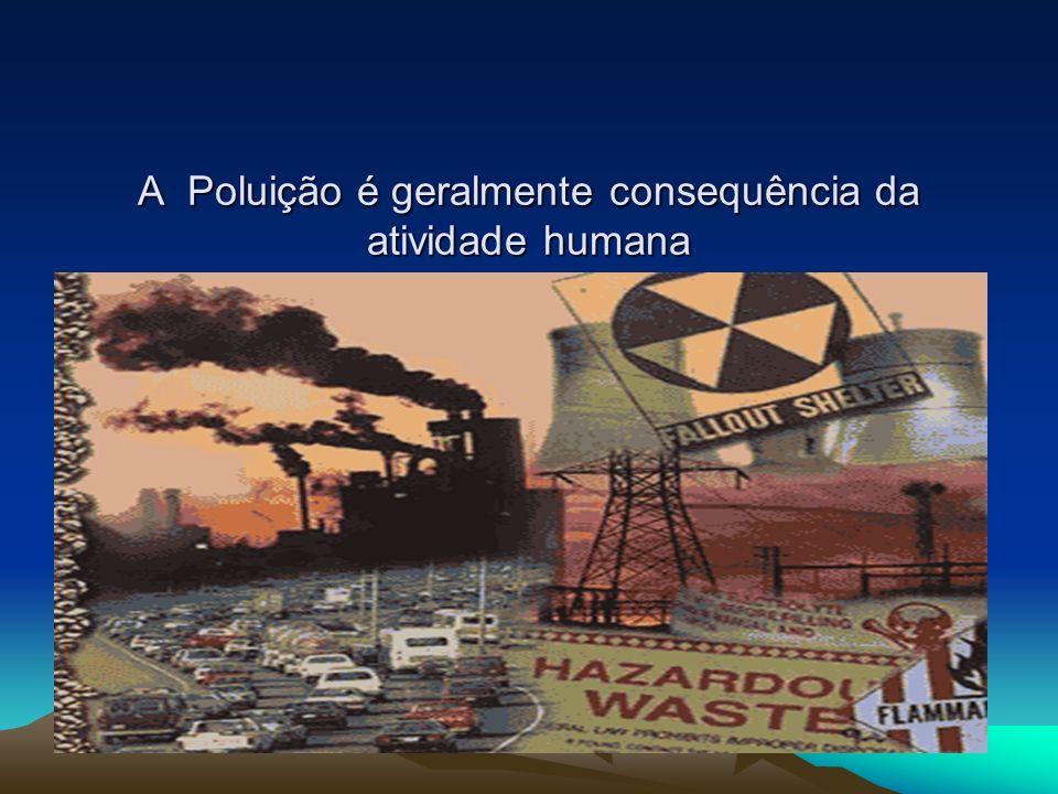 A Poluição é geralmente consequência da atividade humana