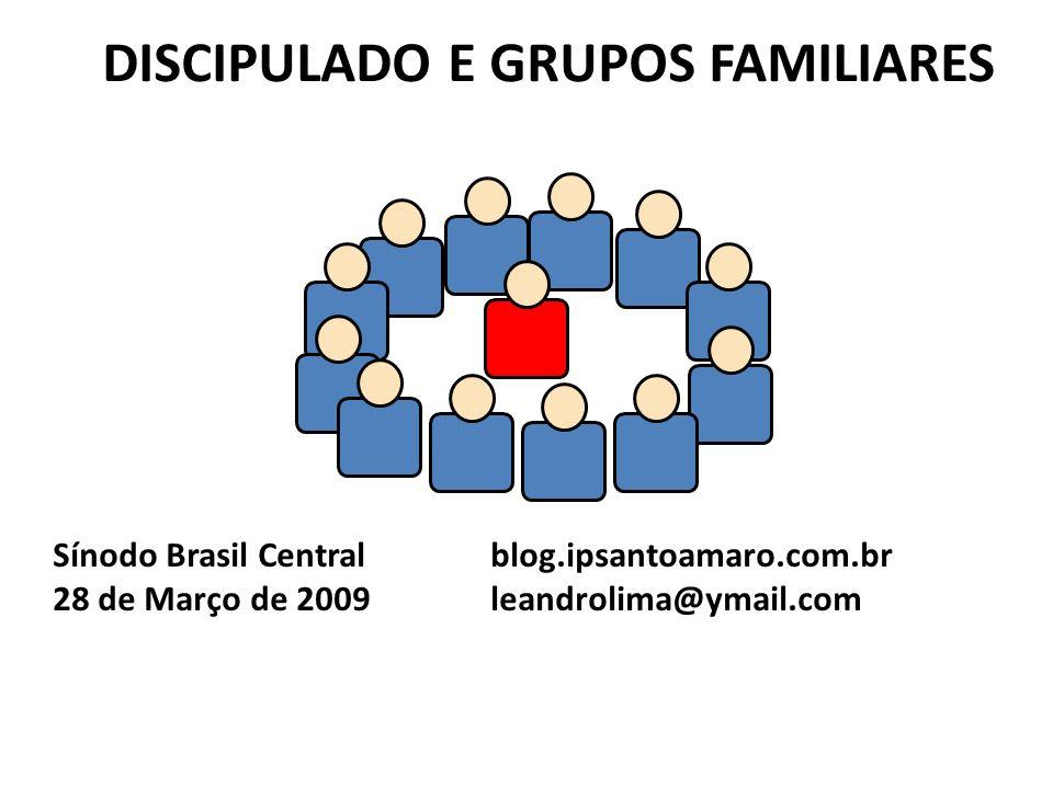 DISCIPULADO E GRUPOS FAMILIARES Sínodo Brasil Central blog.ipsantoamaro.com.br 28 de Março de 2009 leandrolima@ymail.com