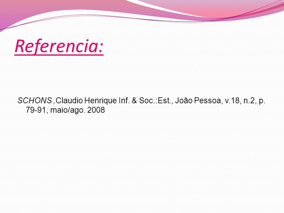 SCHONS,Claudio Henrique Inf.& Soc.:Est., João Pessoa, v.18, n.2, p.