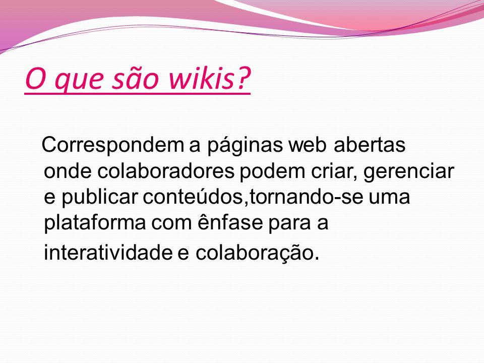 O que são wikis.