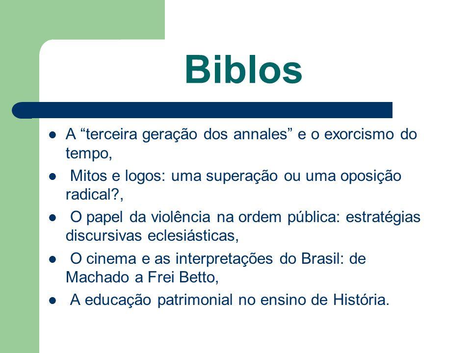 Biblos A terceira geração dos annales e o exorcismo do tempo, Mitos e logos: uma superação ou uma oposição radical?, O papel da violência na ordem púb