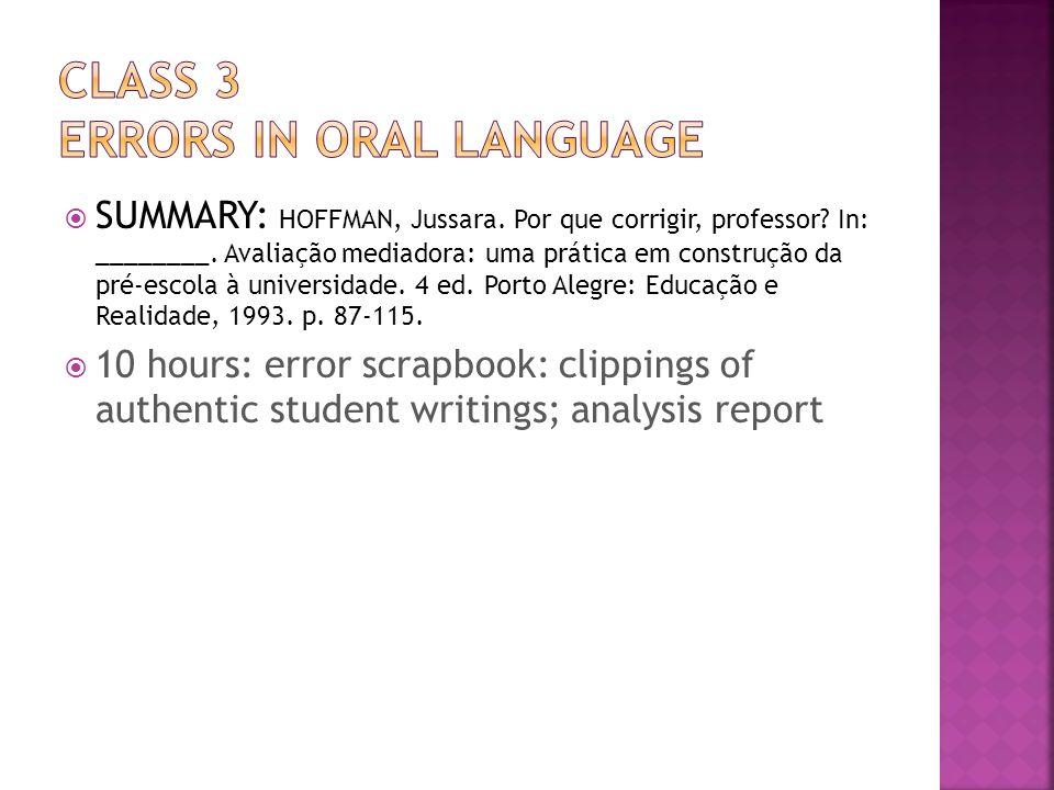 SUMMARY: HOFFMAN, Jussara. Por que corrigir, professor.