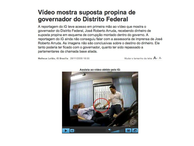 Outras matérias Regalias dos assassinos de Galdino - História interessante sobre o documento que possibilitou a reportagem Correio Braziliense Corrupção no Tribunal de Justiça do DF - Série de reportagens revelou dois desembargadores envolvidos com o crime organizado.