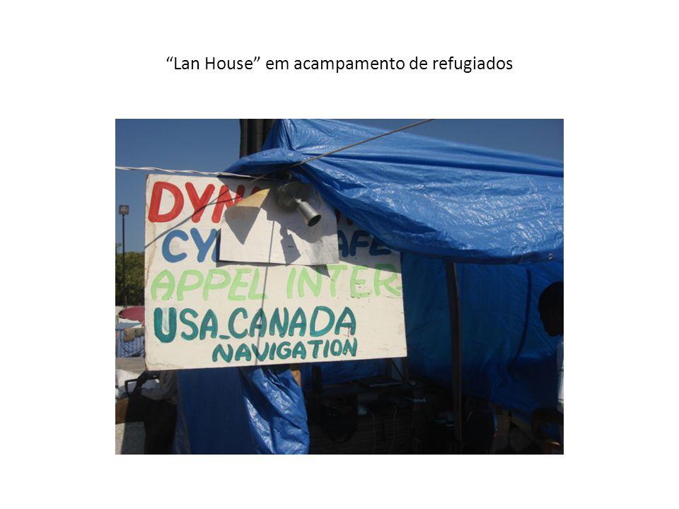 Lan House em acampamento de refugiados