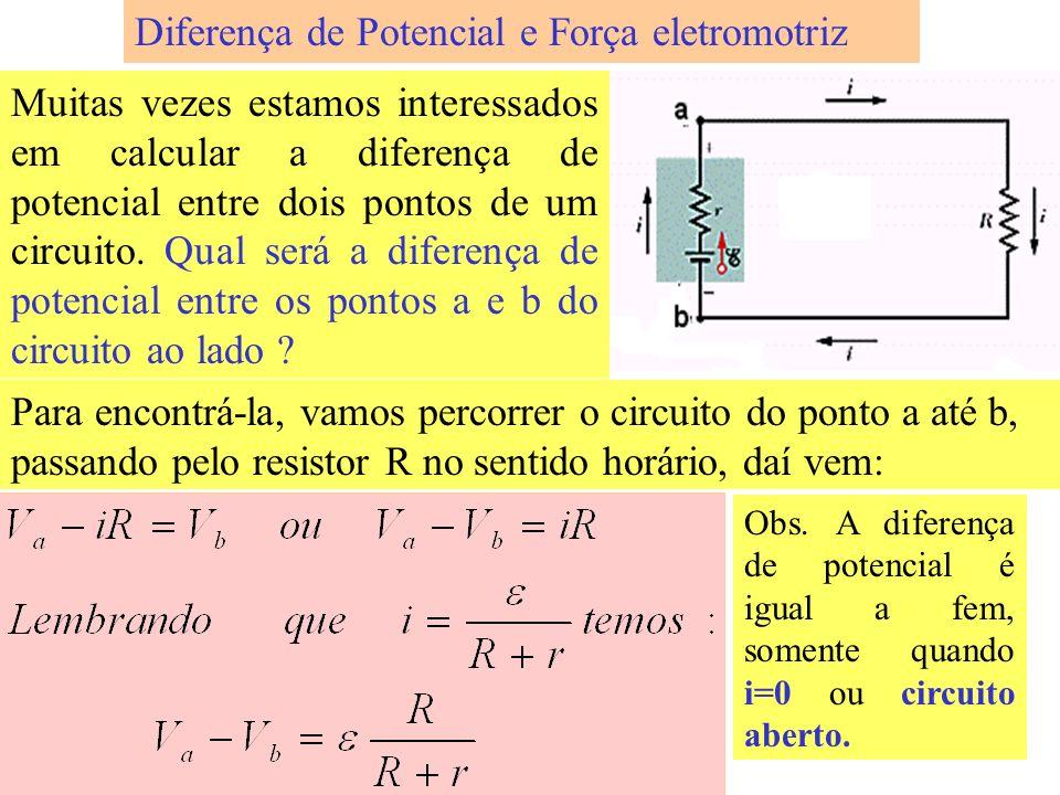 Usando a lei das malhas, podemos encontrar a resistência única R eq. que, substituída pela combinação em série entre os terminais a e b, deixará a cor