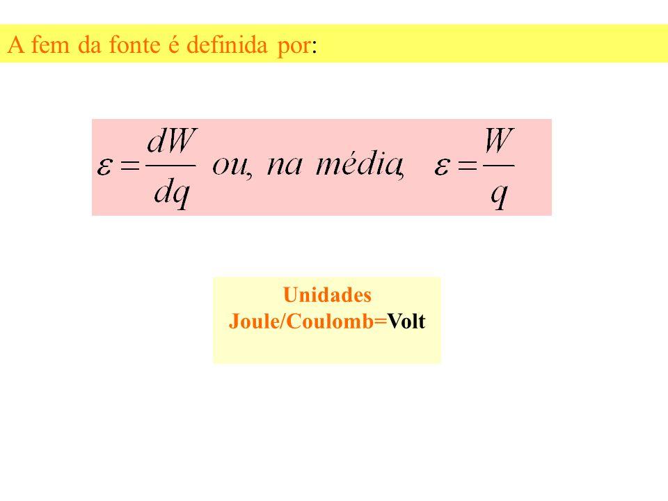 Dentro da fonte de força eletromotriz, os portadores de carga positiva devem mover-se de um ponto de potencial mais baixo (terminal negativo) para out