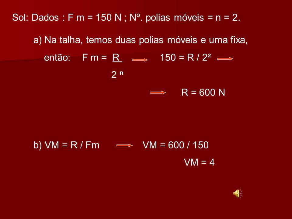 Ex:26- O sistema representado na figura está em equilíbrio.