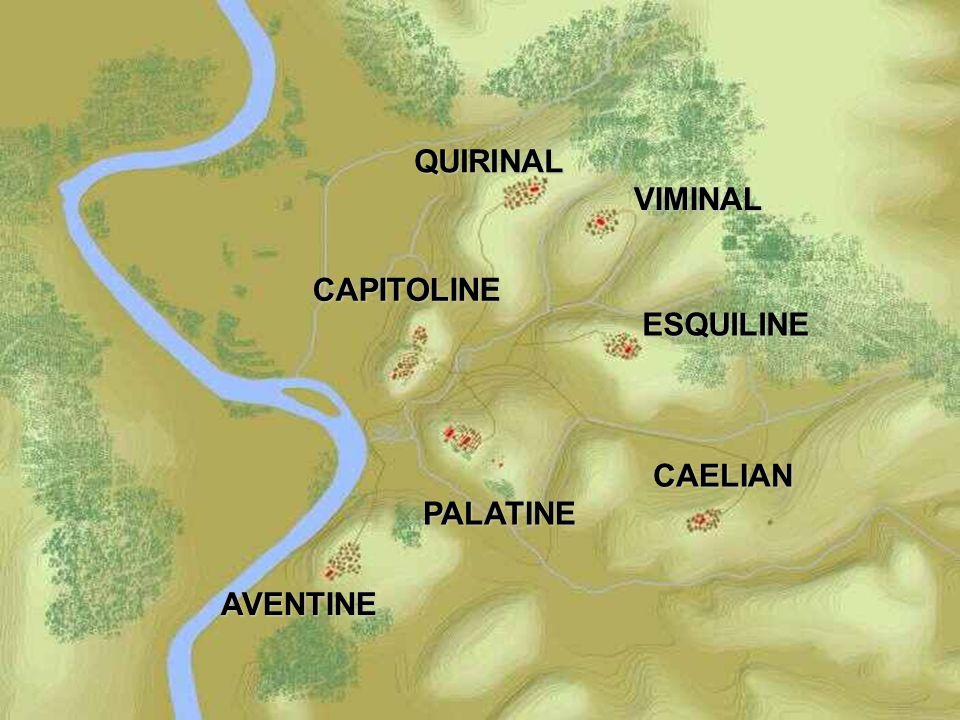 QUIRINAL VIMINAL ESQUILINE CAELIAN PALATINE CAPITOLINE AVENTINE