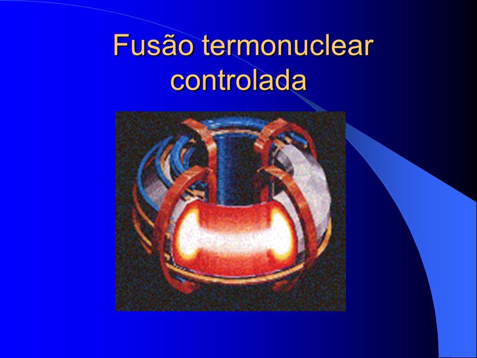 Fusão inercial Um tablete é atingido por intensos feixes de laser de alta potência.