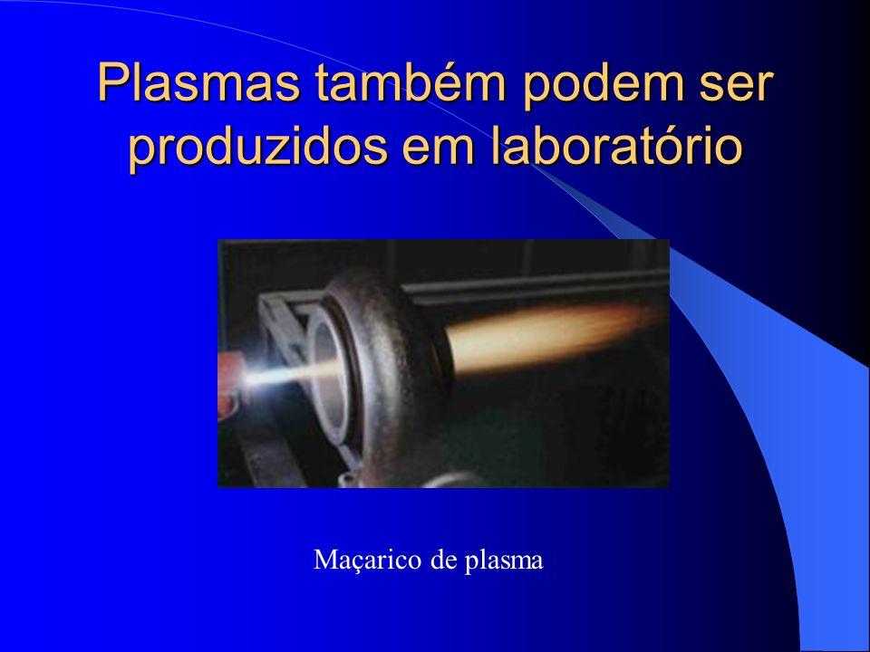 Plasmas também podem ser produzidos em laboratório Maçarico de plasma